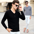 2016 Autumn Winter Men Pullover Sweater Long Sleeve Males Sweaters Wool Casual Brand V-Neck Knitted Sweater Pull Hombre XXXL 50