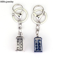 Free shipping Dr Mysterious Ancient Doctor who tardis metal 3D Police Box Cupreous pendant cosplay keychain keyring