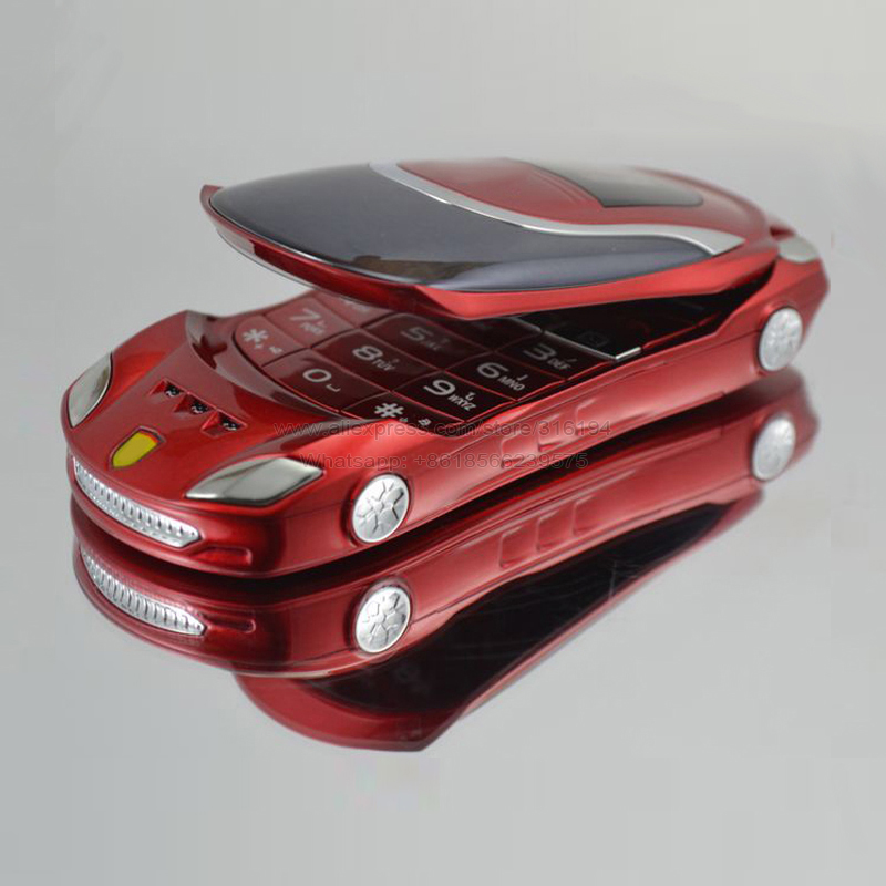 W8 Flashlight Big Russian Key Metal Body Children Student Gift Classic Flip Car Shape Model Mobile Phone P090