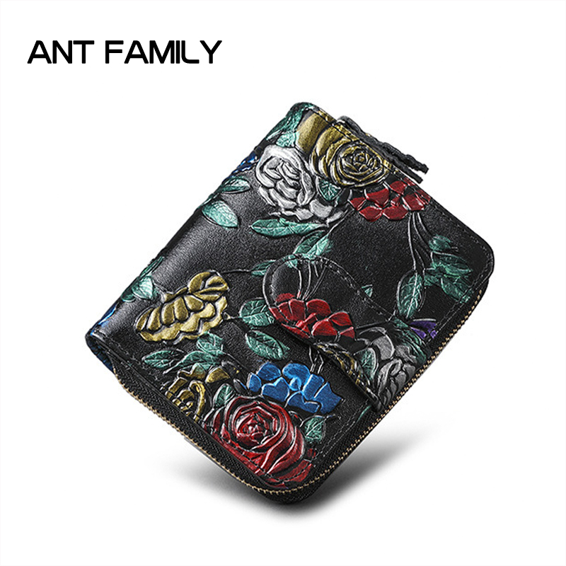 2018 Genuine Leather Women Wallets Small Purse Women Split Leather Short Wallet Female Fashion Brand Design Wallet Coin Purse qiwang fashion women wallets snake pattern leatherl wallet purse for women real leather hole design female long wallet women