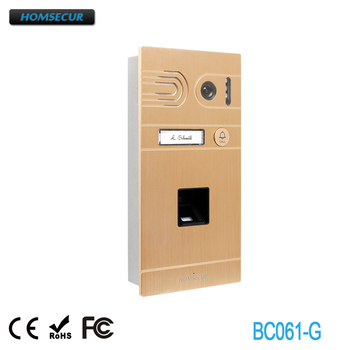 HOMSECUR BC061-G Outdoor Camera with Fingerprint Supported for HDK Series Video Door Phone System