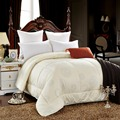 Cotton fabric filled with Wool  Warm silky winter Five colors comforter Twin Queen Full Queen size quilts