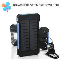 TOP Travel Power Bank Solar Power Bank Dual USB 10000mAh External Battery Portable Charger Bateria Externa Pack for Mobile phone