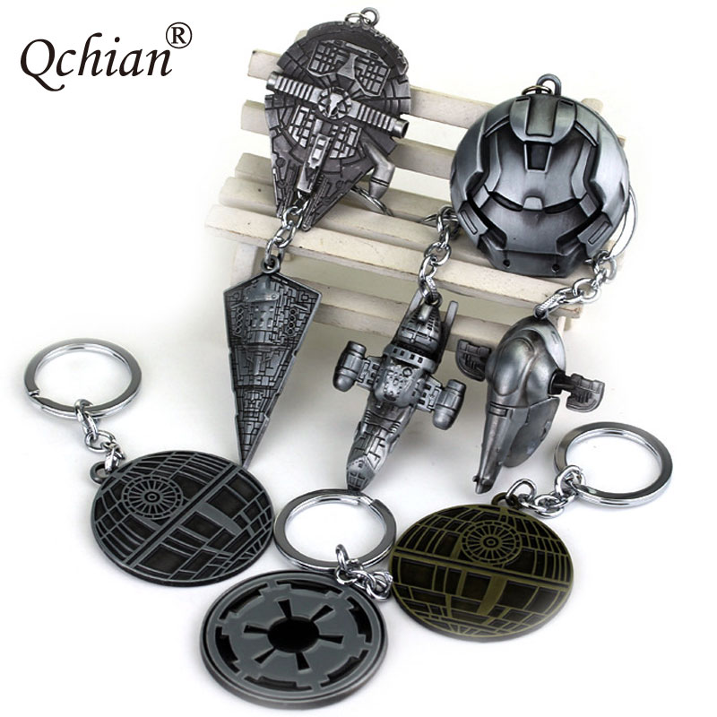 New Fashion Star Wars Spaceship Sign Keychain Cool Falcon Keyrings Alloy Pendant Keyring For Man Jewelry Accessor