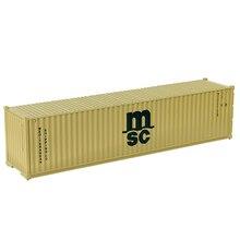 1 шт/2 шт/3 шт/5 шт/10 шт хо масштаб 40 футов контейнер MSC 1: 87 грузовой автомобиль модель поезда