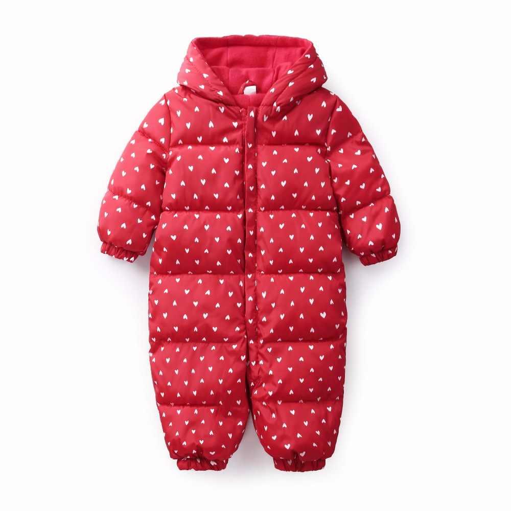 36ea9e136332 Snowsuit Baby Snow Wear Cotton Warm Outerwear Coat Childrens Overalls  Romper Kids Baby Boys Girls Winter