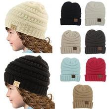 Pletená dětská čepice v mnoha barvách