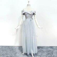 Brautjungfer Kleider Sleeveless Maid of Honor Kleider für Hochzeiten Weg Von Der Schulter Zurück von Verband Kleid Lange Stickerei Vestido