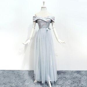 Image 1 - Bridesmaid Dresses Sleeveless Maid of Honor Dresses for Weddings Off The Shoulder Back of Bandage Dress Long  Embroidery Vestido