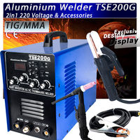IGBT INVERTER AC/DC TIG/MMA Aluminum Welder TSE200G, new generation of WSME 200
