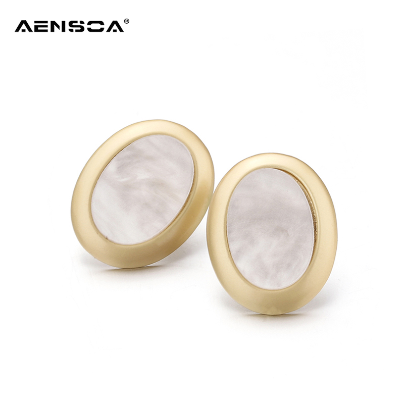 AENSOA Vintage Big Stud Earrings For Women boucle d'oreille Jewelry Classic Wholesale Retro Fashion Earring 2018 Jewelry brincos