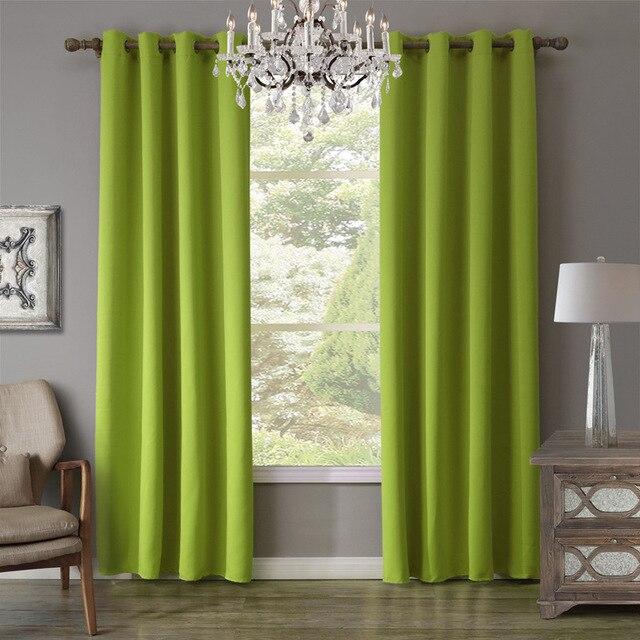 xyzls gloednieuwe effen groene gordijnen schaduw verduisteringsgordijn raam gordijnen cotinas voor slaapkamer woonkamer koffie winkel decor