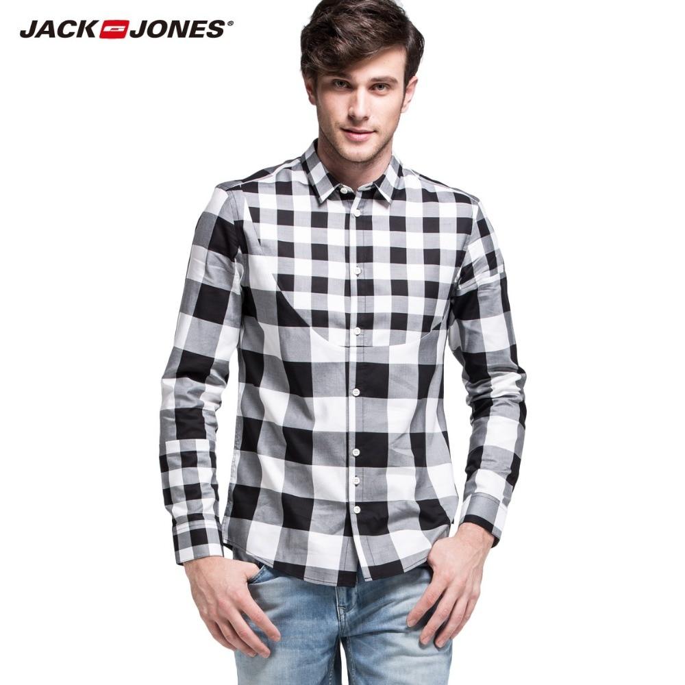 JackJones marke männer long sleeve plaid gedruckt shirts beiläufige art und weise...