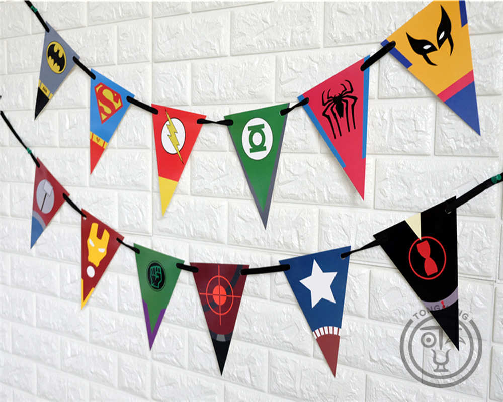 Superhero Avengers Banner Ironman Batman Superman Baby Shower ...
