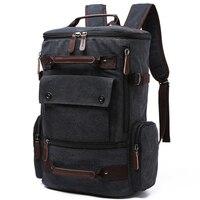 Men Laptop Backpack 15 Inch Rucksack Canvas School Bag Travel Backpacks for Teenage Male Notebook Bagpack Computer Knapsack Bags