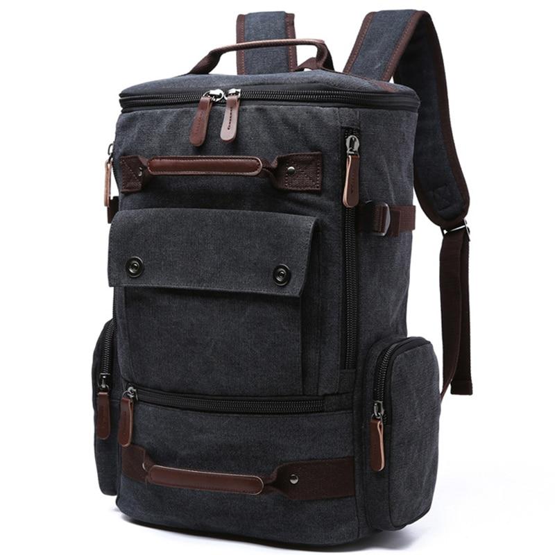 696042422eeb5 Männer Laptop Rucksack 15 zoll Rucksack Leinwand Schule Tasche Reise  Rucksäcke für Teenager Männlichen Notebook Bagpack