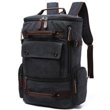 Men Laptop Backpack 15 Inch Rucksack Canvas School Bag Travel Backpacks for Teenage Male Notebook Bagpack Computer Knapsack Bags цена