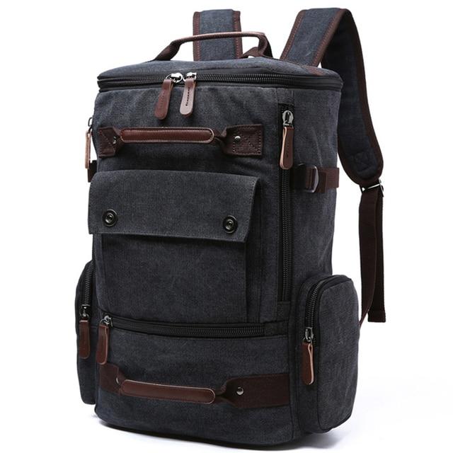 Men Laptop Backpack 15 Inch Rucksack Canvas School Bag Travel Backpacks For Age Male Notebook Bagpack