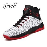 Ifrich Для мужчин спортивные Обувь Баскетбол Сапоги и ботинки для девочек удобные Для мужчин тренажерный зал Спортивная обувь оранжевый зелен...