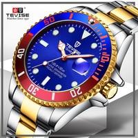 Dropship TEVISE Relogio Automatico Non Mechanische Horloges Mannen Horloge Business Masculino Waterdichte Horloges Mannelijke Klok Cadeau