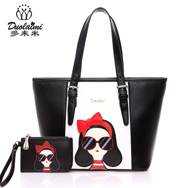 2018 Summer Sales promotion Brand designer small The girl cartoon shell with single shoulder bags lady's lovely student bag the girl with the wrong name
