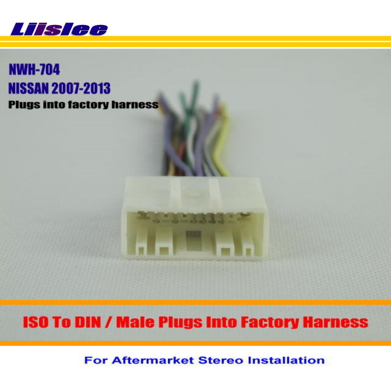 Liislee Car Stereo Radio ISO Wiring Harness Connector Cable For NISSAN Juke Murano NV2500 NV3500 Installation liislee car stereo radio iso wiring harness connector cable for  at reclaimingppi.co