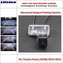 Liislee Intelligent Parking Tracks Car Rear Camera For Toyota Camry (XV50) 2012~2015 Backup Reverse / NTSC RCA AUX HD SONY