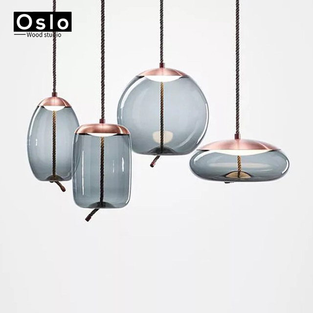 Nordic Modern Simple Pendant Lights Restaurant Bar Bedside Beautiful Decorative Rope Gl Lamp Lighting