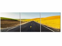 3 Piece Highway Sunset HD Wall Art Print On Canvas For Home Decoration Wall Art Picture