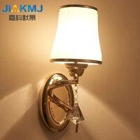 Işıklar ve Aydınlatma'ten LED İç Mekan Duvar Lambaları'de LED duvar lambası oturma odası yatak odası başucu lambası rustik Jane avrupa merdiven balkon duvar arka plan kristal duvar lambaları