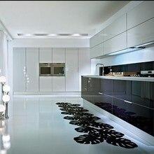 Стиль современный глянцевый белый лак кухонные шкафы дизайн кухонная мебель под заказ