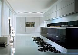 2017 Nuevo estilo moderno alto brillo blanco laca gabinetes de cocina Nuevo diseño mobiliario de cocina personalizado