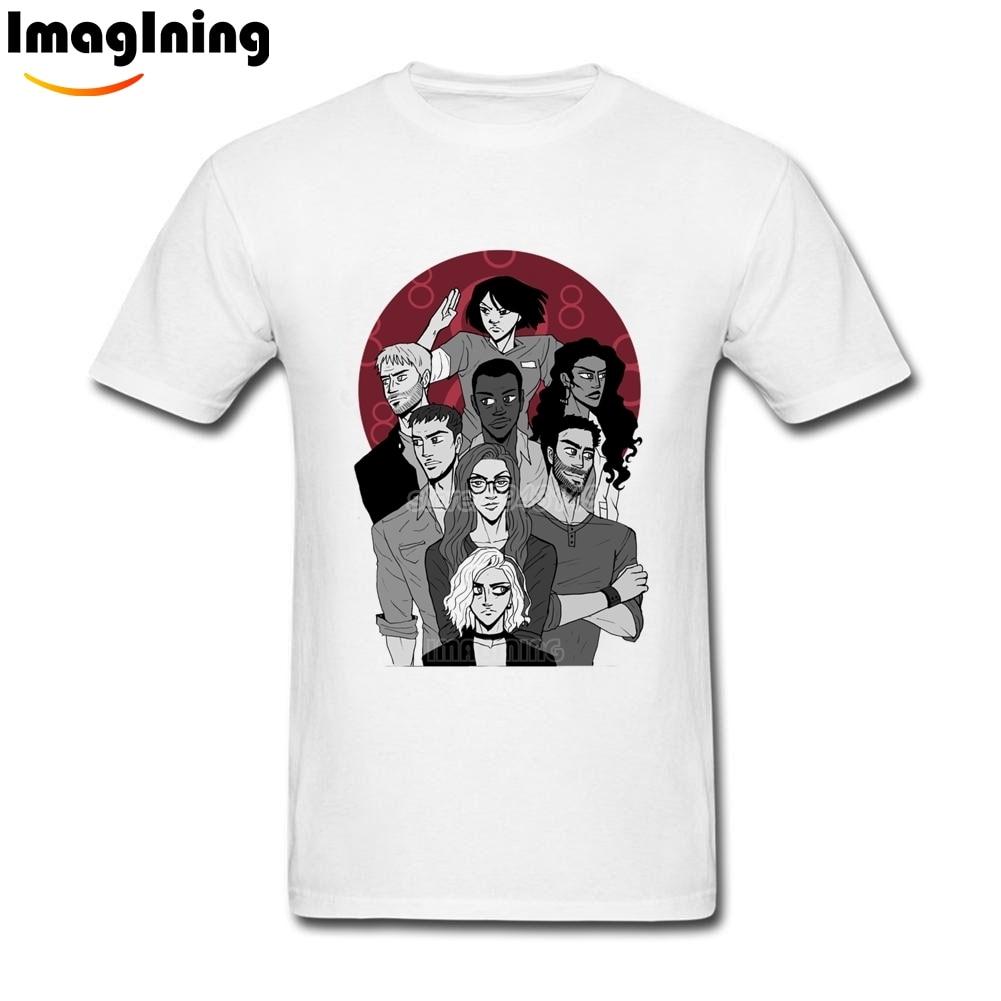 Desain t shirt unik - 2017 Musim Panas Baru Sense8 T Shirt Xl Unik Desain Tees Tops Untuk Pria Kualitas Tinggi