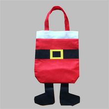 1 Pcs Personalized Custom Christmas Stocking Gift Bags Santa Claus Xmas Gifts Ornament for Home Party Decors