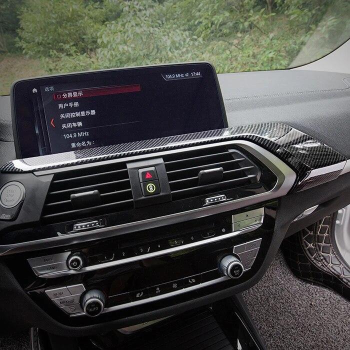 2/x Fibre de carbone Style ABS volant de voiture Bandes Trim pour X3/G01/2018