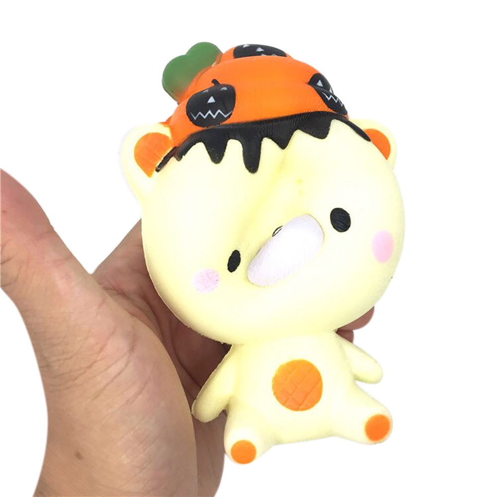 Welding Helmets Cartoon Lovely Poo Pumpkin Bear Squeeze Squishy Slow Rising Antistress Fun Funny Gadgets Interesting Toys Kid Gift Decoration High Quality And Inexpensive