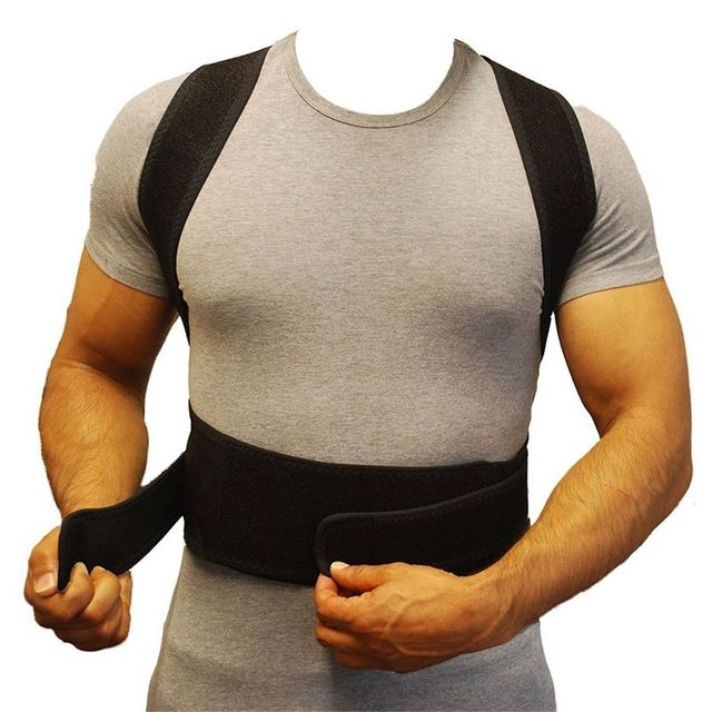 Cuidados de saúde de Apoio Postura de Volta Corrector Brace Lombar Brace Shoulder Belt Banda