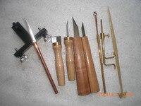9 pcs various Violin tools,sound post retriever/setter/Gauge ,cutter,scraper bridge knife