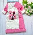 Новорожденный ребенок спальный мешок Конверт для новорожденных 100% Хлопок Осень Зима wrap Теплый Sleepsacks Коляска Пеленания