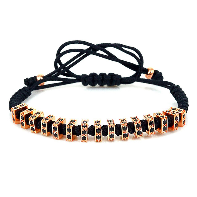 New Arrive Men Anil Arjandas Bangle & Bracelets Pave Flat CZ 24k Gold Plated Balls Braided Bracelets for Men Gift Fashion Style