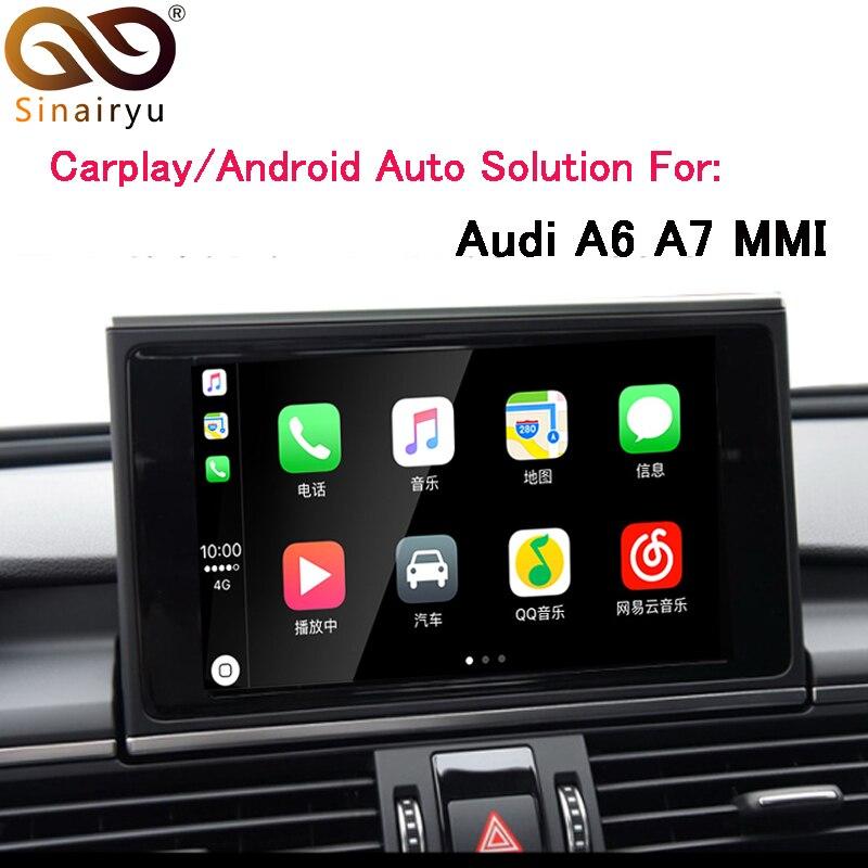 Sinairyu OEM Apple Carplay Android Auto Solution A6 S6 A7 MMI Smart Apple CarPlay Boîte IOS Airplay Rénovation pour Audi