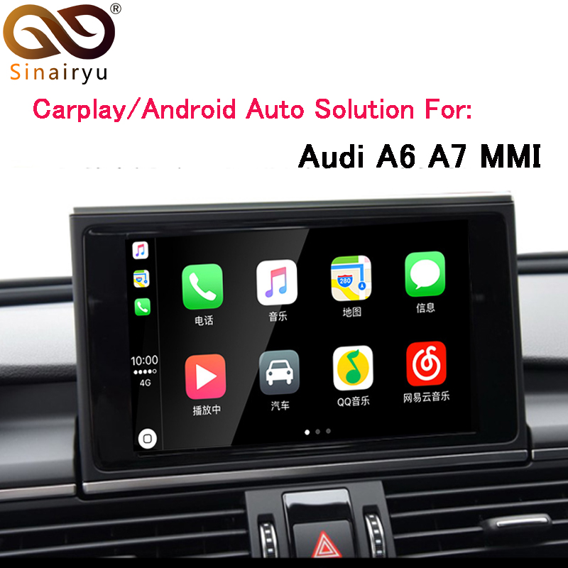 Sinairyu OEM di Apple Carplay Android Auto Soluzione A6 S6 A7 MMI Smart Apple CarPlay Box IOS Airplay Retrofit per Audi