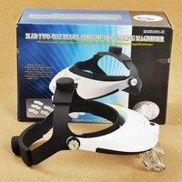 1.0X,1.5X,2.0X,2.5X,3.5X LED Illumination Headband Magnifying Glass Helmet Magnifier Repairing Head Visor Dental Surgical Loupe