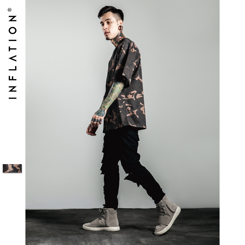 Inflation tshirt men fashion casual mens street wear for Men s fashion casual t shirts