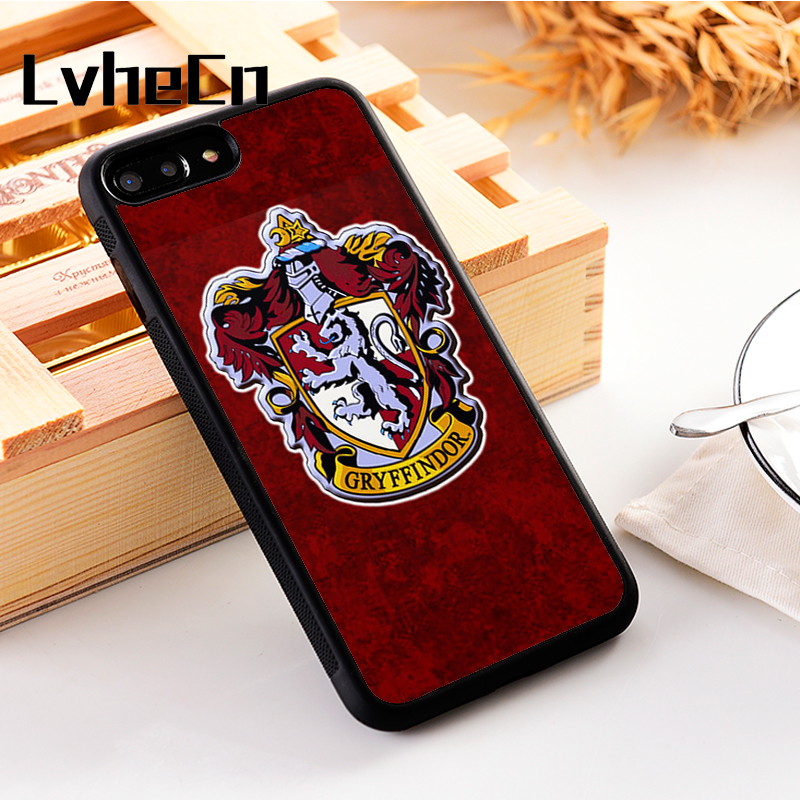 LvheCn 5 5S SE phone cover <font><b>cases</b></font> for <font><b>iphone</b></font> 6 6S 7 <font><b>8</b></font> Plus X Xs Max XR Soft Silicon TPU <font><b>Harry</b></font> <font><b>Potter</b></font> Emblems Crests Design image