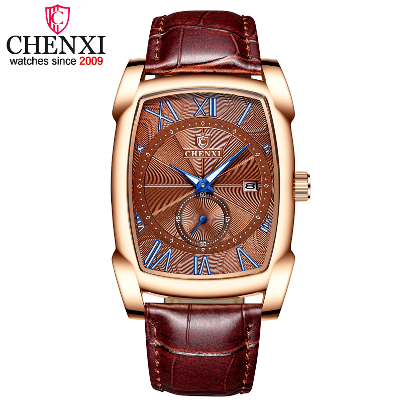 CHENXI Brand Quartz Men Watches Mens Military Clock Relogio Masculino Brown Leather Wristwatches 2019 New Style Erkek Kol SaatiCHENXI Brand Quartz Men Watches Mens Military Clock Relogio Masculino Brown Leather Wristwatches 2019 New Style Erkek Kol Saati