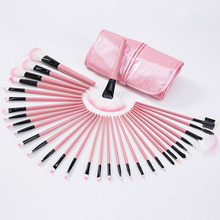 Make Up Brushes Tools With PU Leather Case