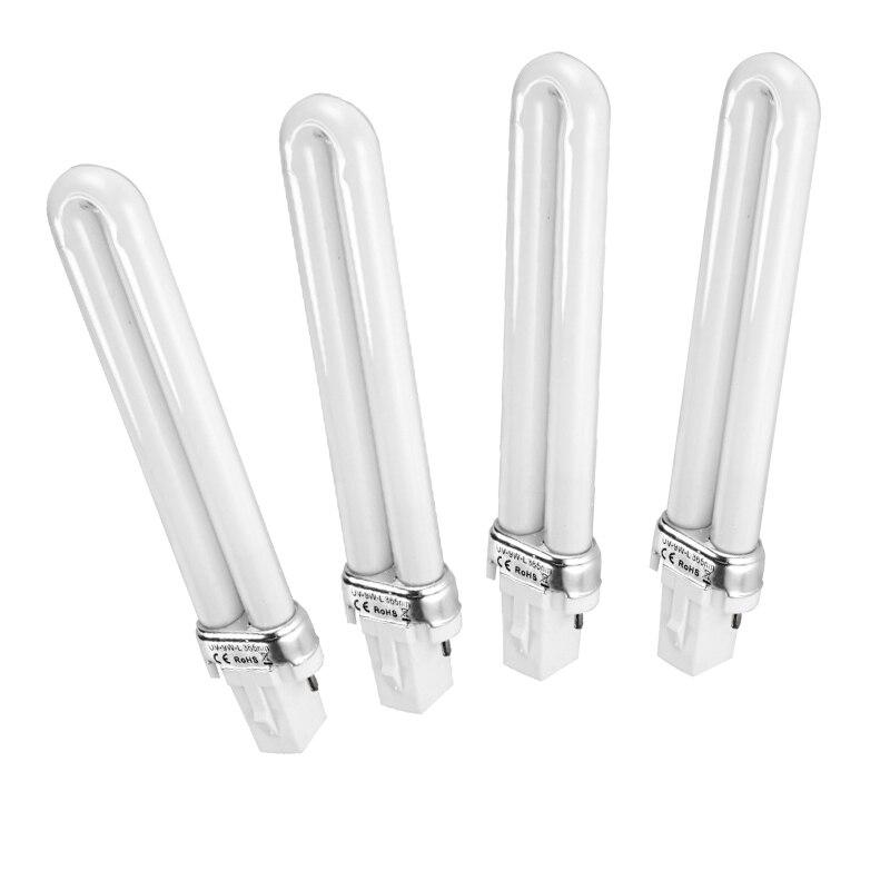 4 Pcs 9w 365nm U-shape Light Tube For Uv Gel Machine Nail Art Curing Lamp Bulb Nails Art & Tools Beauty & Health