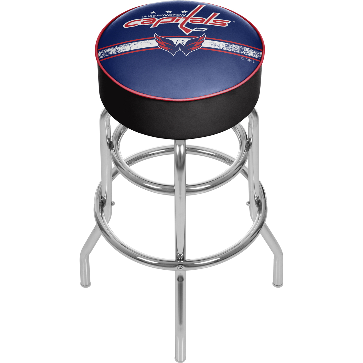 NHL Chrome Padded Swivel Bar Stool 30 Inches High - Washington Capitals сумка на ремне nhl capitals цвет синий 3 5 л 58015