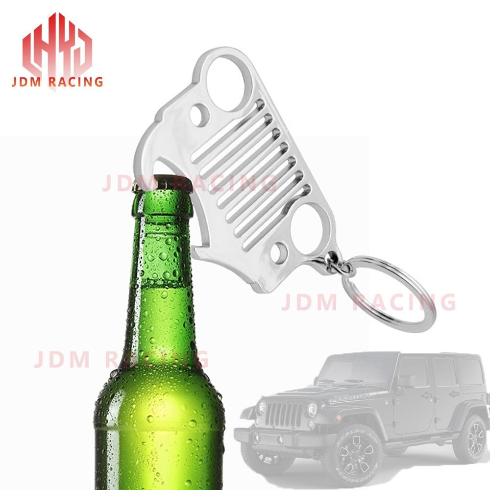 JK TJ Stainless Steel For Jeep Grill Key Chain KeyChain KeyRing CJ YJ XJ